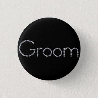 Groom bling button