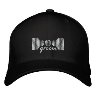 Groom Bow Tie Embroidered Hat