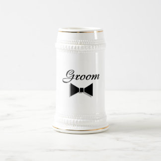 Groom Bowtie Beer Stein