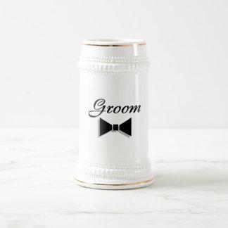 Groom Bowtie Beer Steins