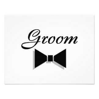 Groom Bowtie Custom Invites