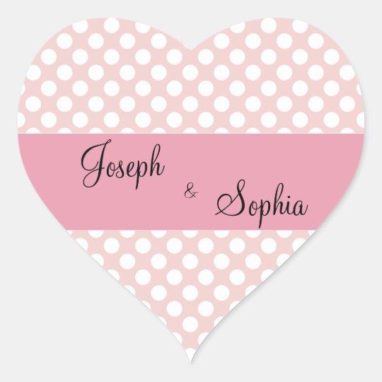 Groom & Bride Heart Shape Stickers