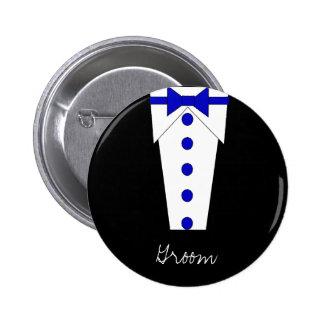 Groom Button (Blue)