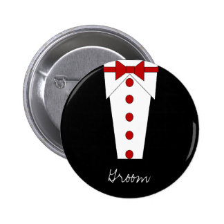Groom Button (Red)