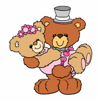 groom carrying bride cute wedding bears photo cut out