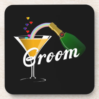 Groom Champagne Toast Drink Coasters