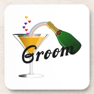 Groom Champagne Toast Drink Coaster