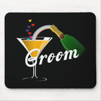 Groom Champagne Toast Mouse Pads