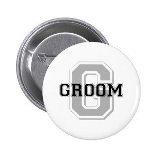 Groom Cheer 6 Cm Round Badge