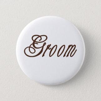Groom Classy Browns 6 Cm Round Badge