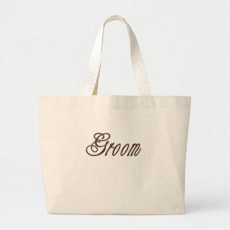 Groom Classy Browns Large Tote Bag