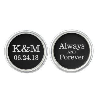 Groom Cufflinks | Always and Forever Design