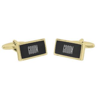 Groom Cufflinks By Ties & Cuffs Gold Finish Cuff Links