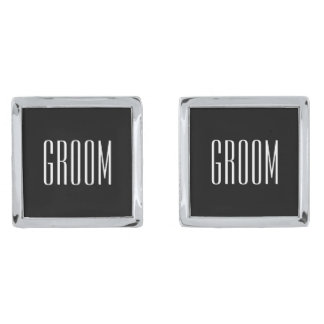 Groom Cufflinks By Ties & Cuffs Silver Finish Cuff Links