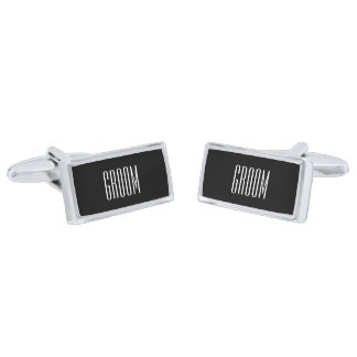 Groom Cufflinks By Ties & Cuffs Silver Finish Cufflinks