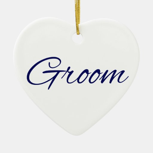 Groom Ornaments