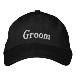 Groom Embroidered Cap Embroidered Hat