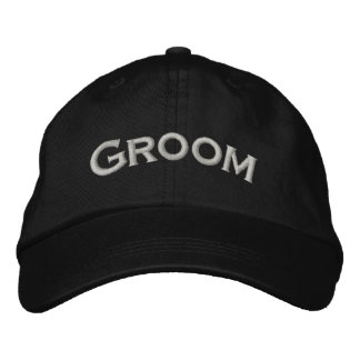 Groom Embroidered Cute Wedding Hat Embroidered Cap