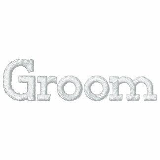 Groom Embroidered Fleece Zip Jogger Jacket