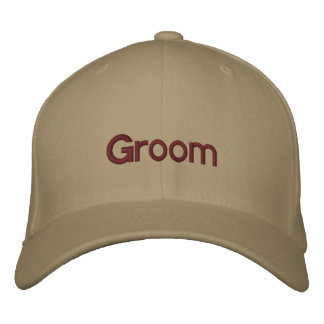 Groom Embroidered Hats