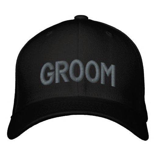 GROOM EMBROIDERED BASEBALL CAP