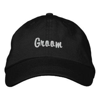 """""""Groom"""" Embroidered Hat"""