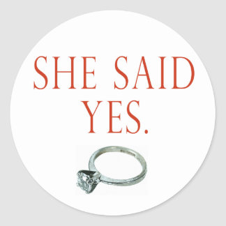 Groom Engagement Gifts and T-shirts Round Sticker
