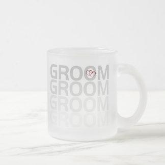 Groom Fade Frosted Glass Coffee Mug