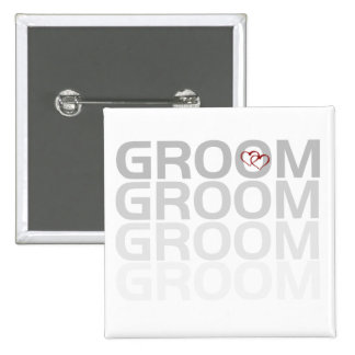 Groom Fade Tshirts and Gifts Pin