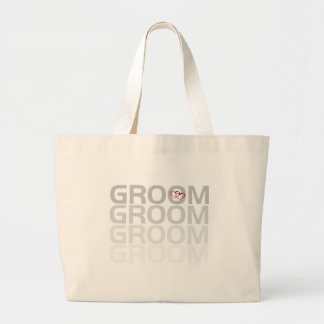 Groom Fade Tshirts and Gifts Large Tote Bag