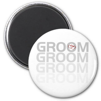 Groom Fade Tshirts and Gifts Refrigerator Magnet