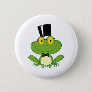 Groom Frog Cartoon Character 6 Cm Round Badge