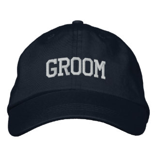 Groom hat embroidered cap
