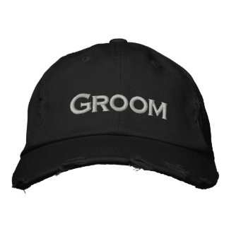 GROOM Hat Embroidered Hats