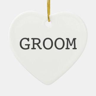 Groom Heart Shaped Ornament