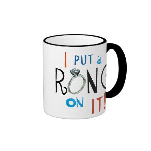 Groom I Put a Ring on It Mug