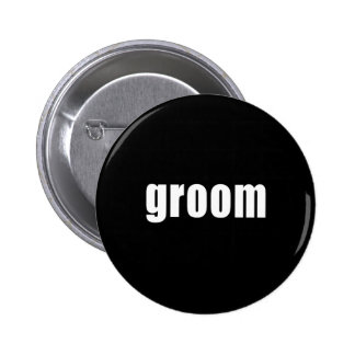 Groom in Black and White 6 Cm Round Badge