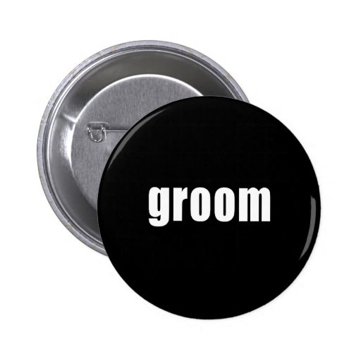 Groom in Black and White Pins