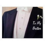 GROOM IN HIS TUX-BROTHER ON YOUR WEDDING DAY BIG GREETING CARD