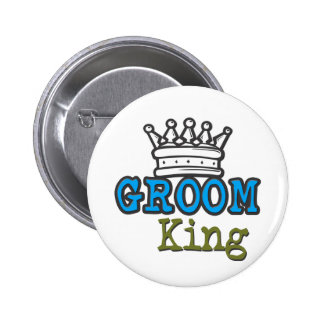 Groom King 6 Cm Round Badge