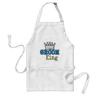Groom King Adult Apron