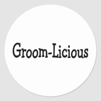 Groom Licious Round Stickers