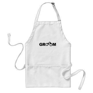 Groom Mens Funny Tshirt.png Adult Apron
