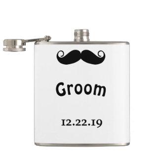 Groom Mustache Hipster Wedding Flask