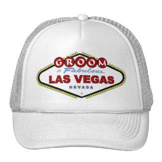 GROOM Of Las Vegas Cap Trucker Hats