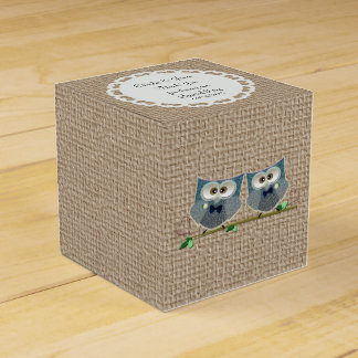 Groom Owls Art Wedding Tent Favor Box