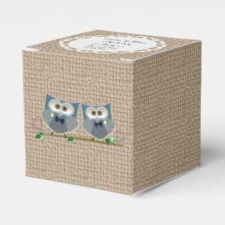 Groom Owls Art Wedding Tent Favor Box Wedding Favour Boxes