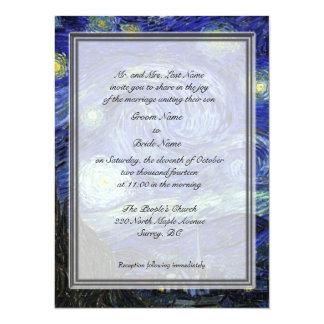 Groom parents invitation, Starry Night 14 Cm X 19 Cm Invitation Card