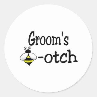 Groom s Bee-otch Stickers