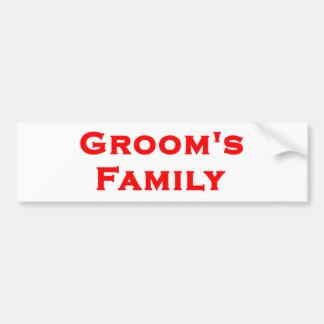 groom s family wedding gear bumper stickers